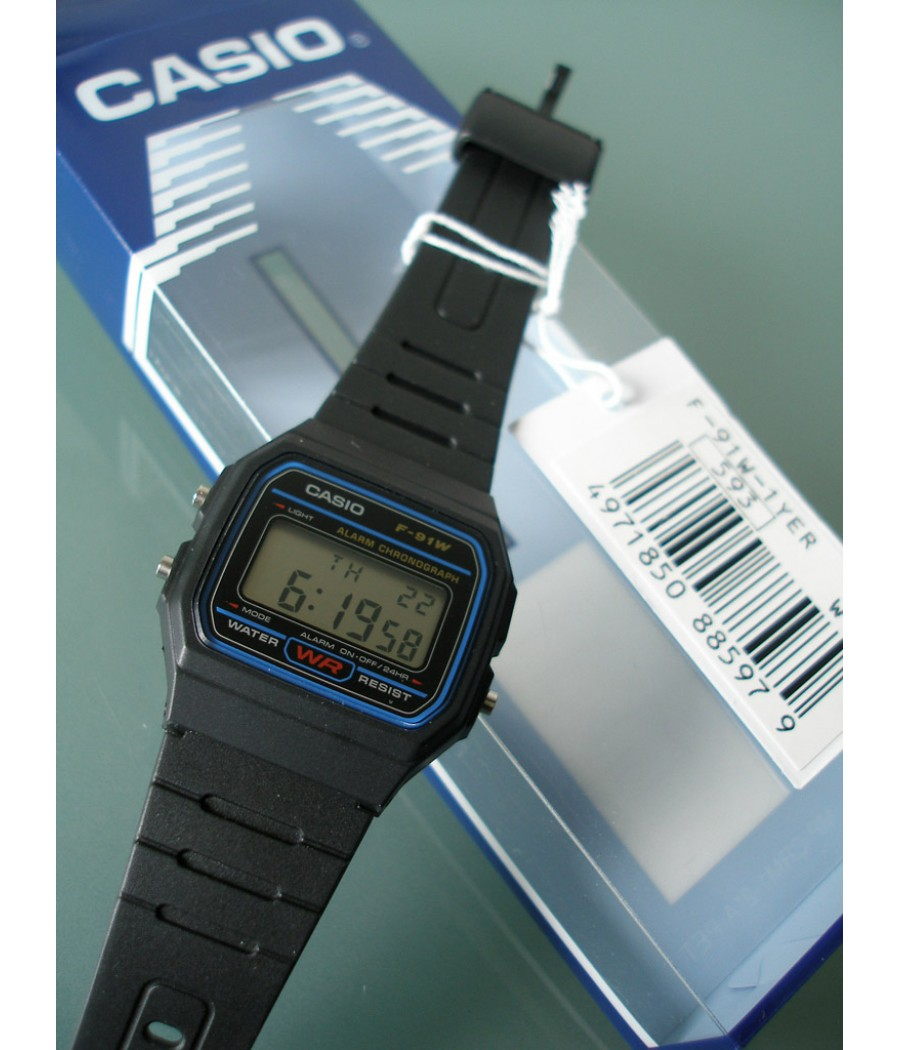 Casio - Collection F-91W-1YEF